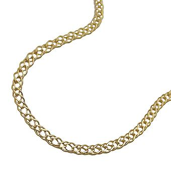 Double tank 2, 2 mm 14Kt GOLD bracelet 19 cm