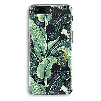 OnePlus 5T Transparent Case (Soft) - Banana leaves