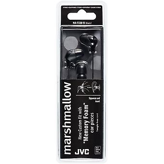 JVC HAFX38B Marshmallow Custom Fit In-Ear Earphone/Headphone - Black