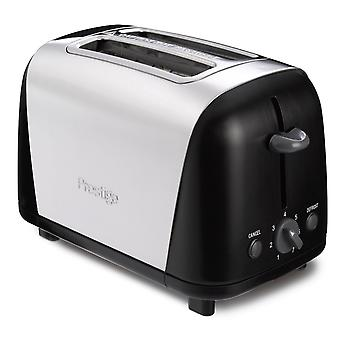 Prestige Black/Silver Stainless Steel 2 Slice Toaster (53568)