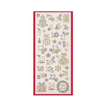 SALE - Advent Calendar Numbers - Glitter Dot Stickers for Christmas Crafts