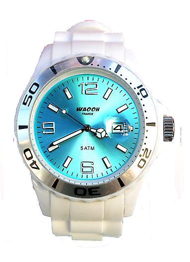 Waooh - Watch MONACO 42 White Dial Color