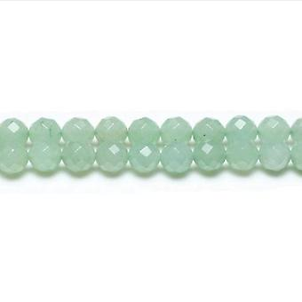 Packet 12 x Green Aventurine 4mm Faceted Round Beads VP2910