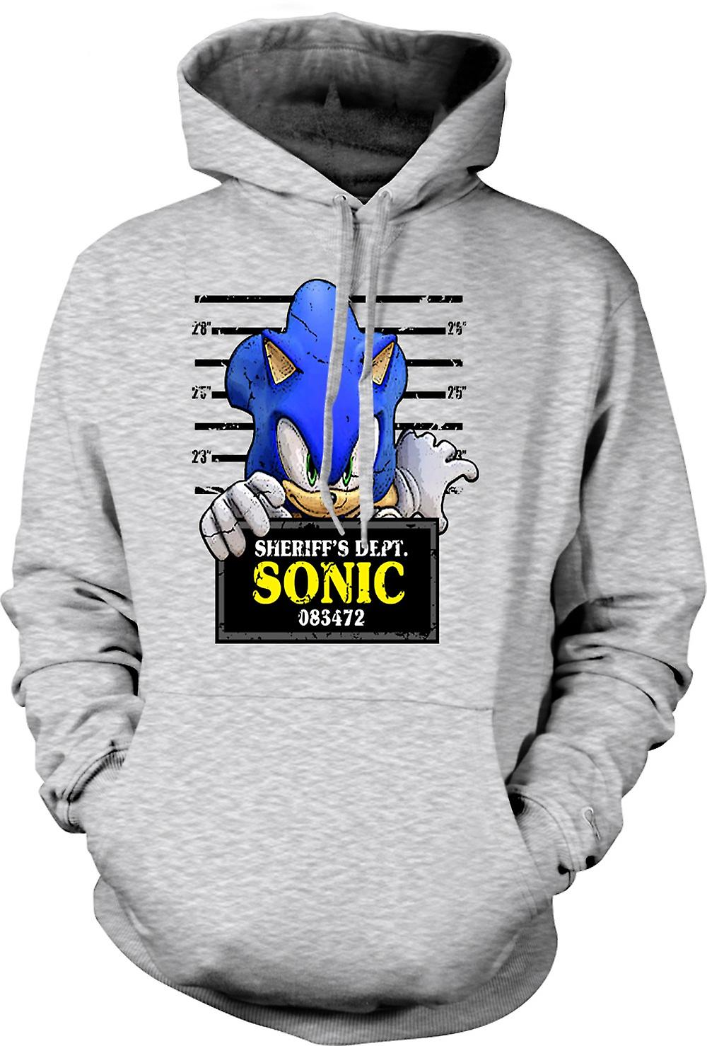 Mens Hoodie - Sonic The Hedgehog - Mug Shot