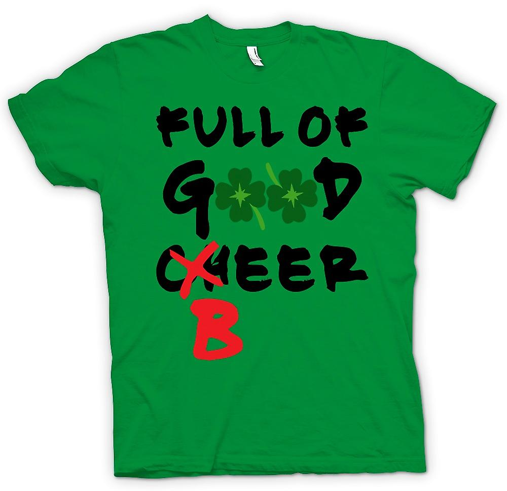 Mens T-shirt - St Patricks Day - Full Of Beer