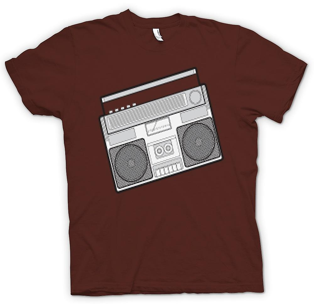 Mens T-shirt - Ghetto Blaster Design Drawing