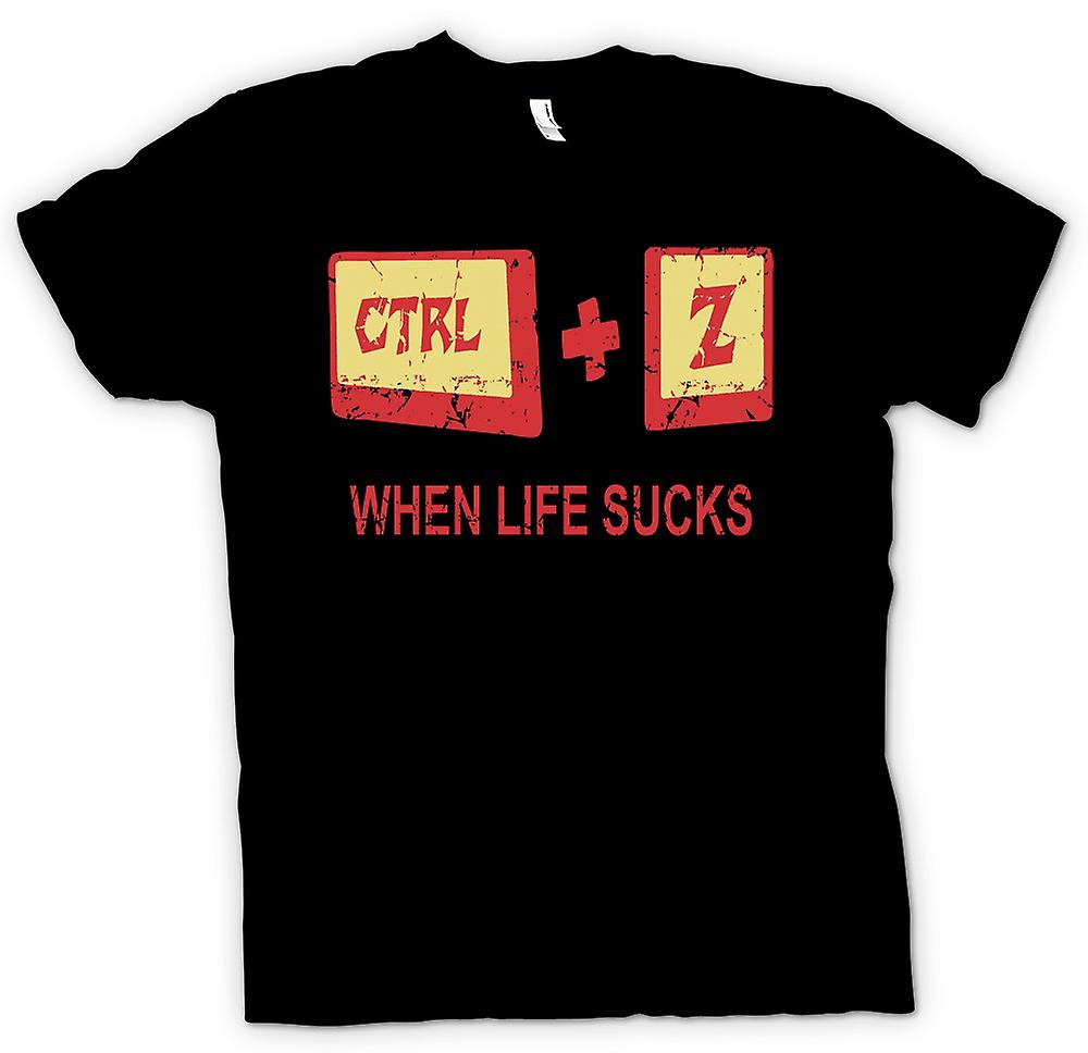 Kids T-shirt - When Life Sucks - Ctrl - Z