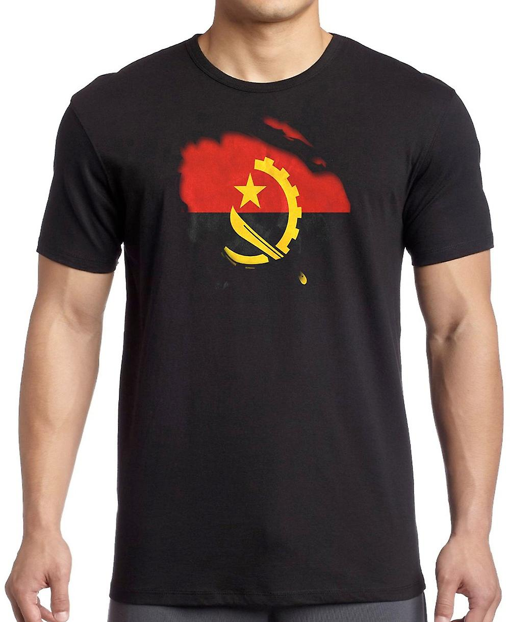 Angola Angolan Ripped Effect Under Shirt Kids T Shirt