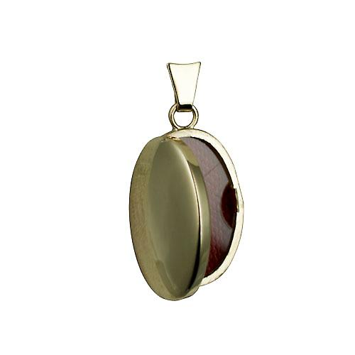 9ct Gold 22x15mm plain oval Locket