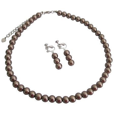 You Can Buy Cheap Bronze Necklace Earrings Set