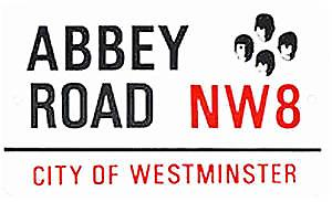 Abbey Road large sized enamel sign   (gg)