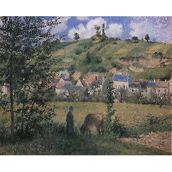 Liggende på Chaponval, Camille Pissarro, 50x40cm