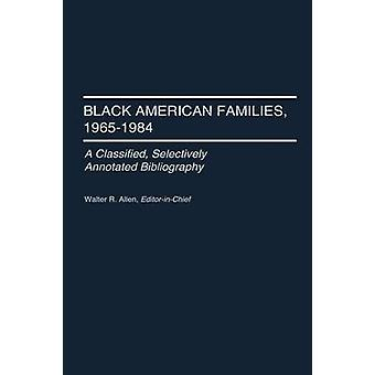 العائلات الأميركية السوداء 19651984 تصنيف الفهارس بشكل انتقائي بالن آند والتر ريتشارد