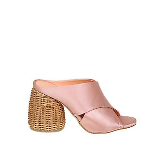 Paloma Barceló Pink Satin Sandals