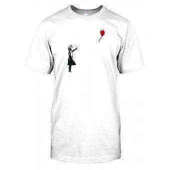 Banksy dziewczyna z balon męskie T Shirt