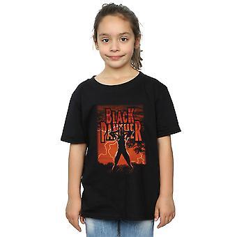 Marvel Girls Black Panther Wakanda Lightning T-Shirt