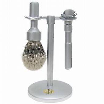 Merkur Futur 3 pezzi Brushed Chrome Shaving Set