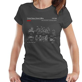 NASA Apollo Lunar Rover Blueprint Damen T-Shirt