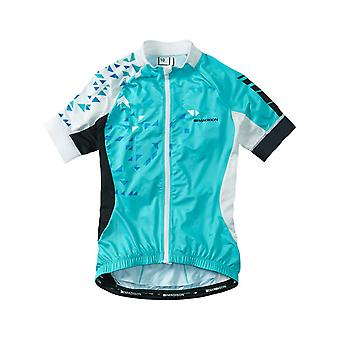 Madison Blue Curaco-White 2016 Sportive Womens Short Sleeved Cycling Jersey