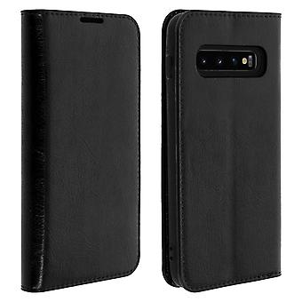 Business leather book case, stand case for Samsung Galaxy S10 - Black