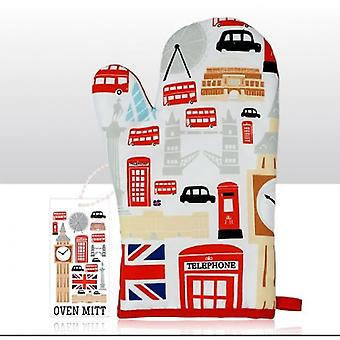 Union Jack Wear Icons Of London Oven Mitt With Free Pack Of Napkins