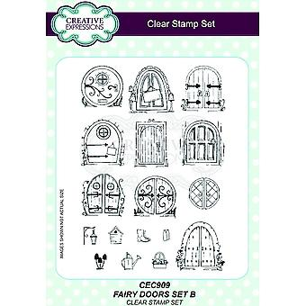 Creative Expressions Fairy Doors Set B Clear Stamps
