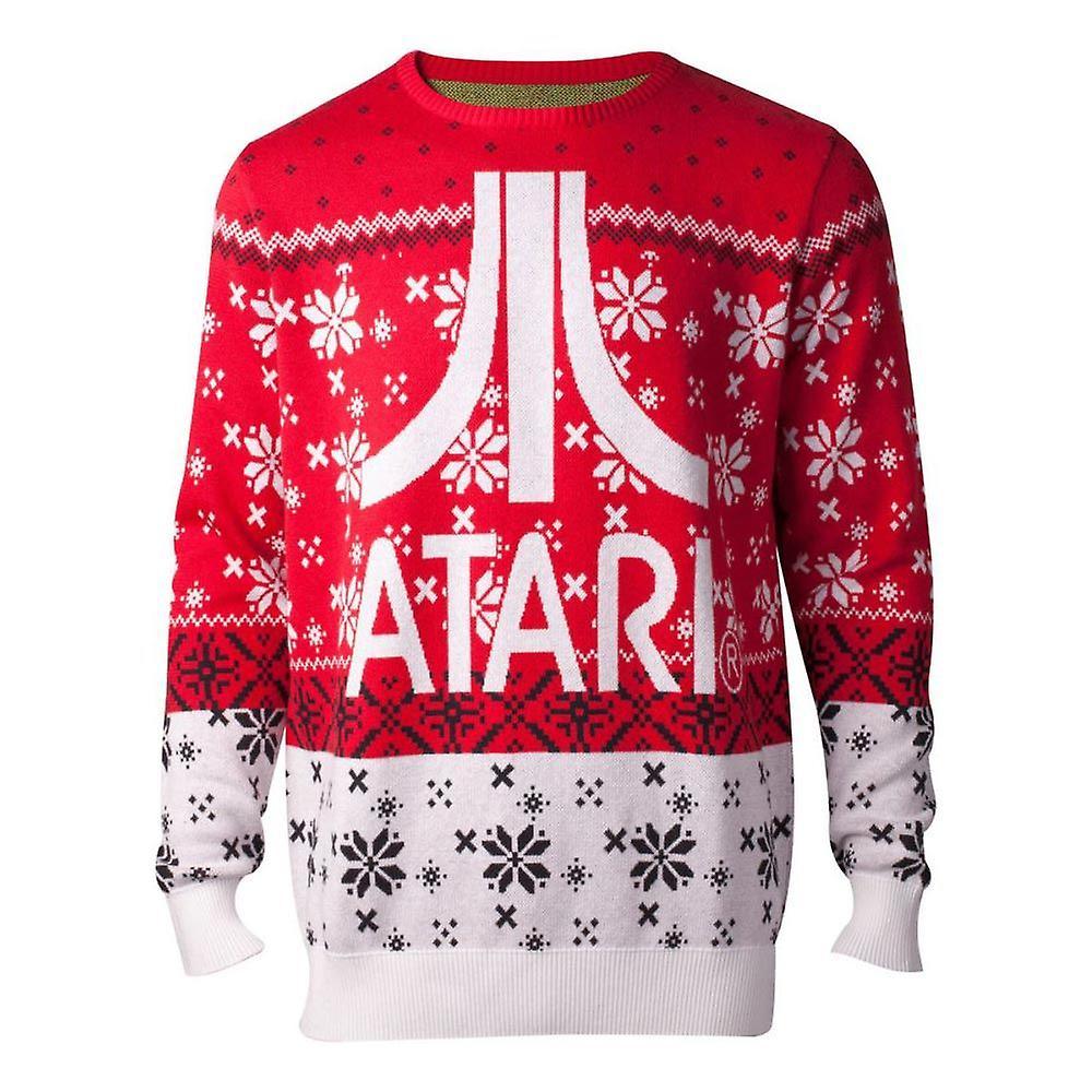 Atari cavaliers logo tricoté Pour des hommes pull multiCouleure mâle XX-grand KW234385ATA-2XL