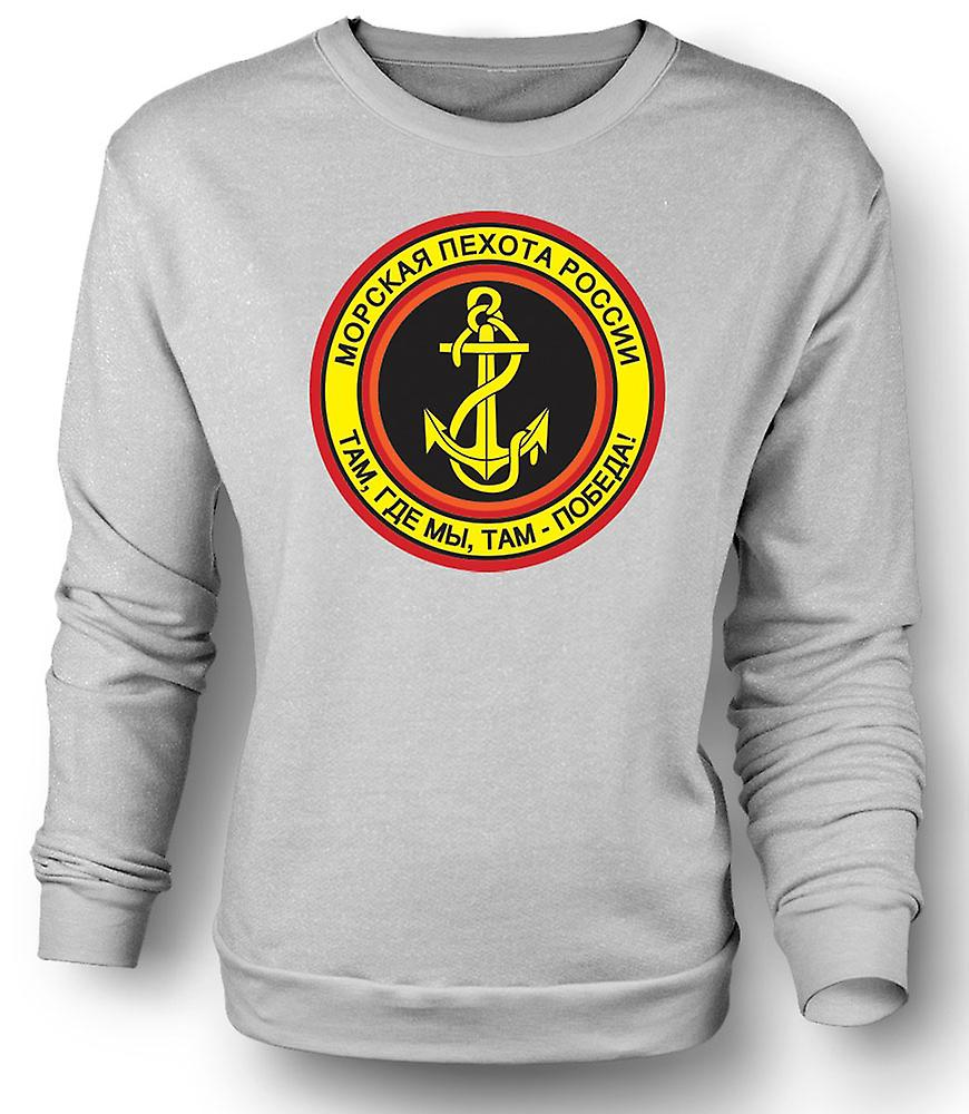Mens Sweatshirt Russian Naval Infantry