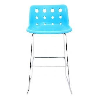 Loft Robin Day Skid Blu Plastica Polo Bar Sgabello
