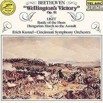Beethoven/Liszt - Beethoven: Wellington's Victory; Liszt: Battle of the Huns; Hungarian March to the Assault [CD] USA import
