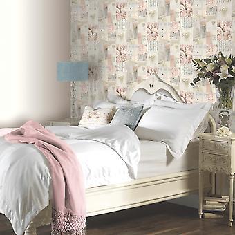 Arthouse Diamond Rose getextureerde vinyl chique moderne glitter bloemen print behang 259900