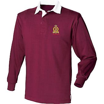 Staff & Personnel Support Branch SPS - Veteran - Licensed British Army Embroidered Long Sleeve Rugby Shirt