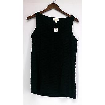 Liz Lange Camisole Novelty Knit Shear Tank Top Black Womens 420-018
