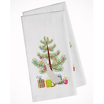 Carolines Treasures  BB9226WTKT Bali Duck Christmas White Kitchen Towel Set of 2