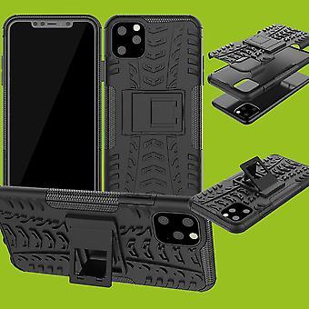 Für Apple iPhone 11 6.1 Zoll Hybrid Case 2teilig Outdoor Schwarz Tasche Hülle Cover Schutz