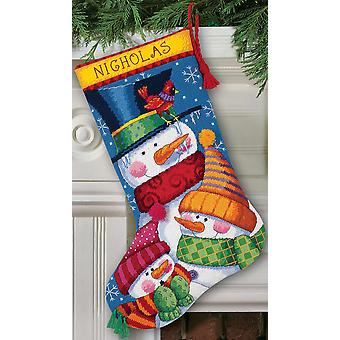 Freezin' Season Stocking Needlepoint Kit 16