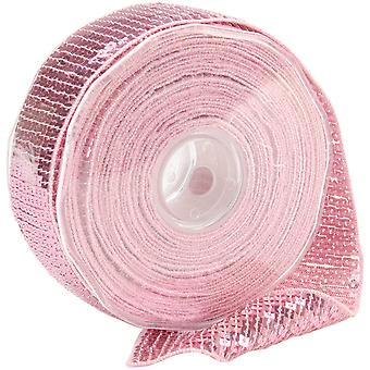 Square Sequin Trim 40Mm X 15.95 Yards Light Pink 9801 40 74