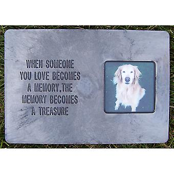 Memory Stone Marker W/Poem-Large Gray PMM