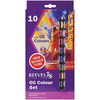 Reeves Oil Paint 22Ml 10 Pkg Assorted Colors 8590110