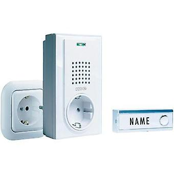 Wireless door bell Complete set with nameplate m-e modern-electronics FG-2.1