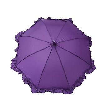 Umbrella for kids girl purple ruffle
