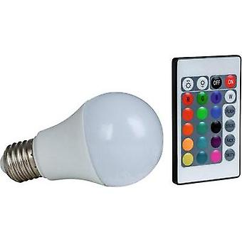 LED (RGB) Heitronic 230 V E27 7.5 W = 50 W RGBW EEC: A+ Arbitrary (Ø x L) 60 mm x 108 mm colour-changing, dimmable 1 pc(