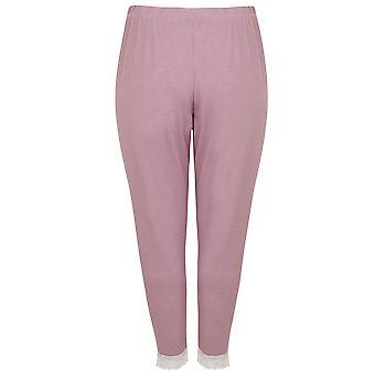 Lila pyjama's bodems met Lace manchetten