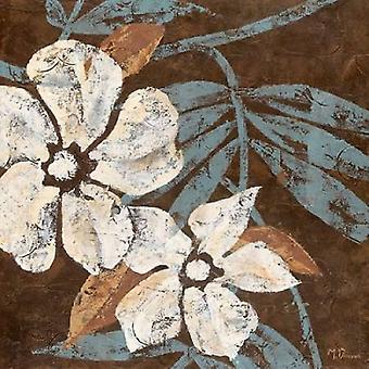 Flowers on Chocolate I Poster Print by Maria Donovan (12 x 12)