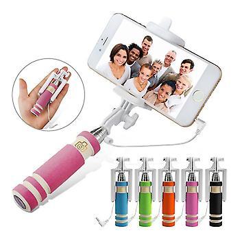 ONX3 (Pink) Kodak Ektra Universal Adjustable Mini Selfie Stick Pocket Sized Monopod Built-in Remote Shutter