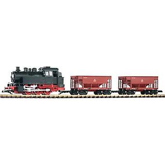 Piko G 37100 G PI START-SET BR 80 WITH 2 GOODS WAGON