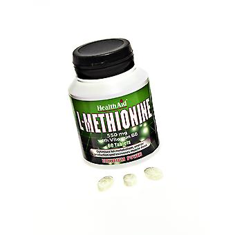 Health Aid L-Methionine 550mg, 60 Tablets