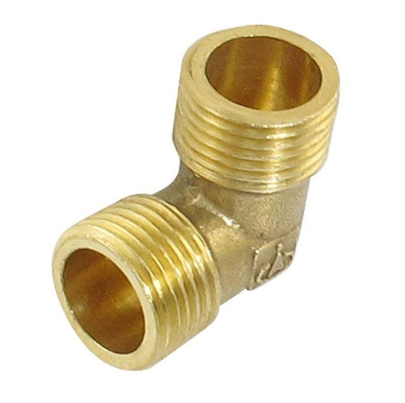 Brass water pipe male elbow adapter connector 1/2