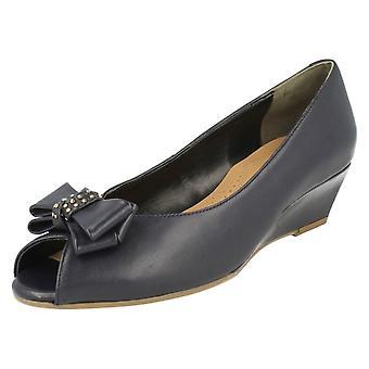 Ladies Van Dal Peep Toe Wedge Heels Hudson