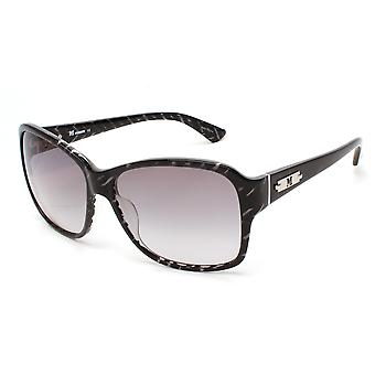 Missoni Women's Striped Oversized Sunglasses Black/Grey